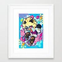 barachan Framed Art Prints featuring dive by barachan