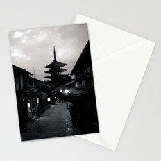 Kyoto at dusk Stationery Cards