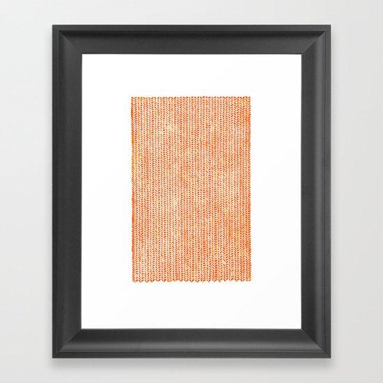 Stockinette Orange Framed Art Print