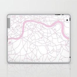 London White on Pink Street Map Laptop & iPad Skin