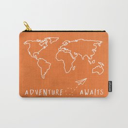 Adventure Map - Retro Orange Carry-All Pouch