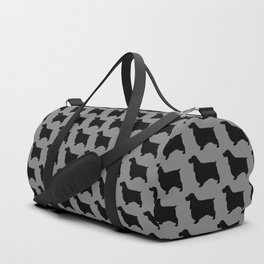 English Cocker Spaniel Silhouette Duffle Bag
