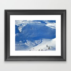 Avalanche season  Framed Art Print