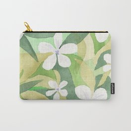 Granny's white flowers Carry-All Pouch
