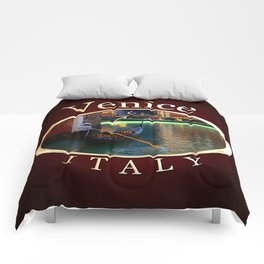 Gondoliers On A Venetian Canal Comforters