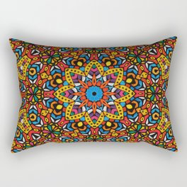 Arabesque kaleidoscopic Mosaic G518 Rectangular Pillow