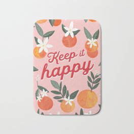 Keep it Happy with oranges Bath Mat