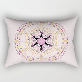 Cat & Sakura Mandala Rectangular Pillow