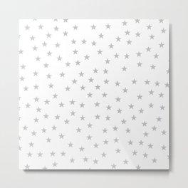 Light grey stars seamless pattern Metal Print