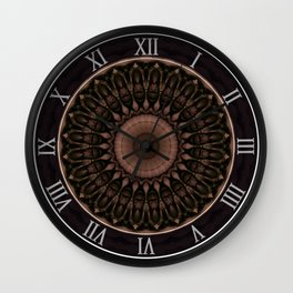 Mandal in dark and light colors Wall Clock