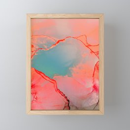 BETTER TOGETHER - LIVING CORAL by MS Framed Mini Art Print