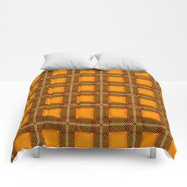 Scottish Tartan Orange Comforters