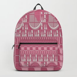 Rose Pink Geometric Abstract Backpack