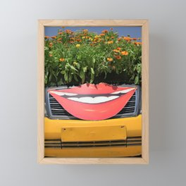 Smiling Car Framed Mini Art Print