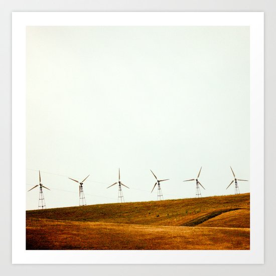California Windmills Art Print