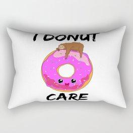 I Donut Care Sloth Indifferent Lazy Sleep Rectangular Pillow