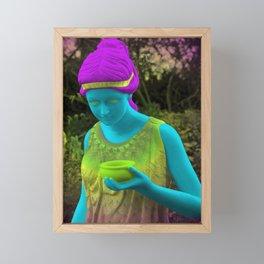 Lady Florist Framed Mini Art Print