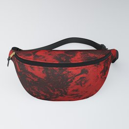 Marble-Red Fanny Pack