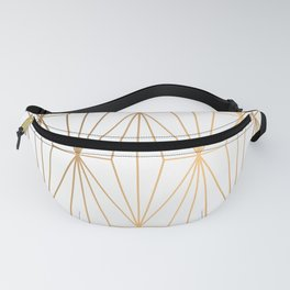 Gold Geometric Pattern Illustration Fanny Pack