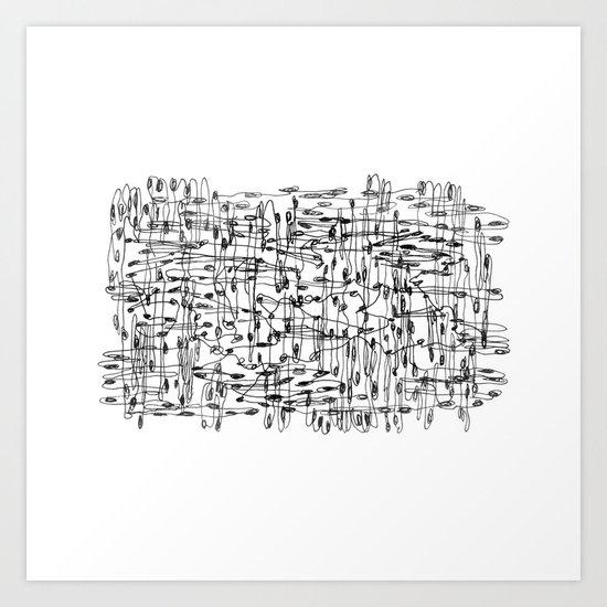 wires, nodes Art Print