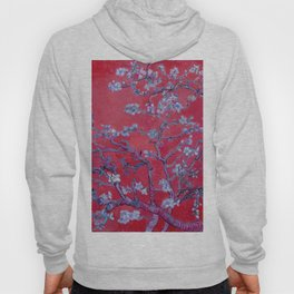 "Vincent van Gogh ""Almond Blossoms"" (edited red) Hoody"