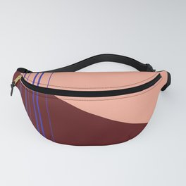 Marsala + Rose + Cobalt Color Block Fanny Pack