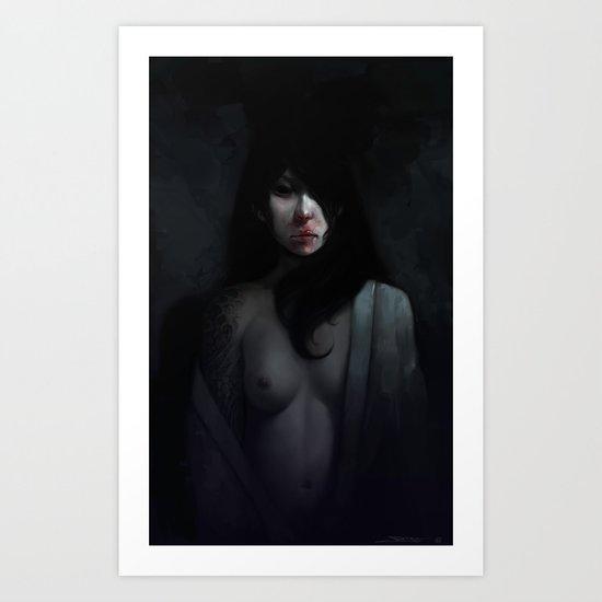 Portrait of Ikuko's Ghost Art Print