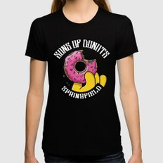 Sons Of Donuts / Simpsons / Donuts Womens Fitted Tee Black X-LARGE