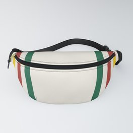 Rustic Lodge Stripes Black Yellow Red Green Fanny Pack