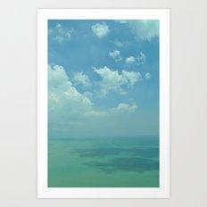 Sea of Blue. Art Print