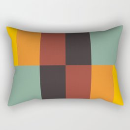 Stripes and swatches Rectangular Pillow