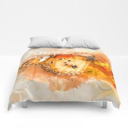 Closing Butterfly #watercolor #digitalpainting Comforters