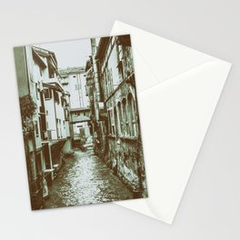 Canale delle Moline in the medieval center of Bologna Stationery Cards