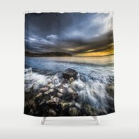 justice Shower Curtains featuring Justice by HappyMelvin