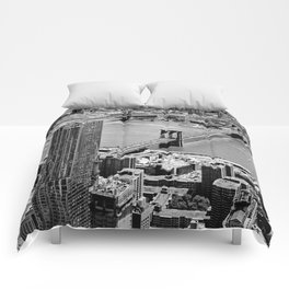 Brooklyn Bridge View - New York City Comforters