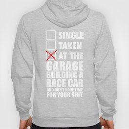 At the garage building a race car Hoody