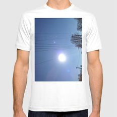 High Wire MEDIUM White Mens Fitted Tee