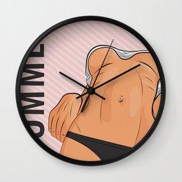 Summer boobs Wall Clock