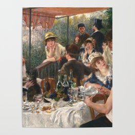 Luncheon of the Boating Party by Renoir Poster