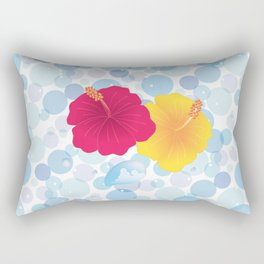 Hibiscus and Thunderhead reflected on the bubble_YR Rectangular Pillow
