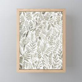 Grey Botanical Framed Mini Art Print
