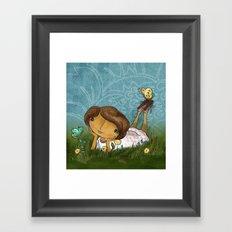Joan In the Grass Framed Art Print