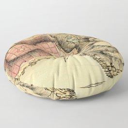 Map Of Montevideo 1808 Floor Pillow