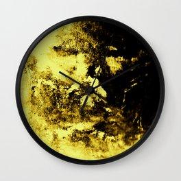 Yellow Shroud Wall Clock