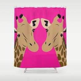 Happy Giraffes Shower Curtain