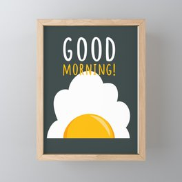 Good morning poster Framed Mini Art Print