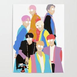 BTS IDOL Hanbok Illustration Poster