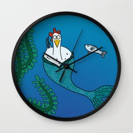 Eglantine la poule (the hen) disguised as a mairmaid Wall Clock