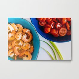 Seafood in coastal style - Asian fusion cuisine - fine art food photography Metal Print