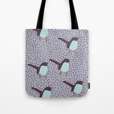 Birds And Little Polka Dots Tote Bag